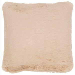 Faux Fur Cozy Super Soft Cream Pillow NWT